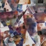 "Gerson Leiber, Slattern Village, 2008 Gouache on paper, 13.5 x 19.25"""