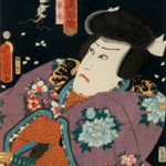 "Kunisada Toyokuni III, Jiraiya From the Series ""Toyokuni's Comical Pictures of Thieves and Killers"", woodblock print, 14.25 x 9.25"""
