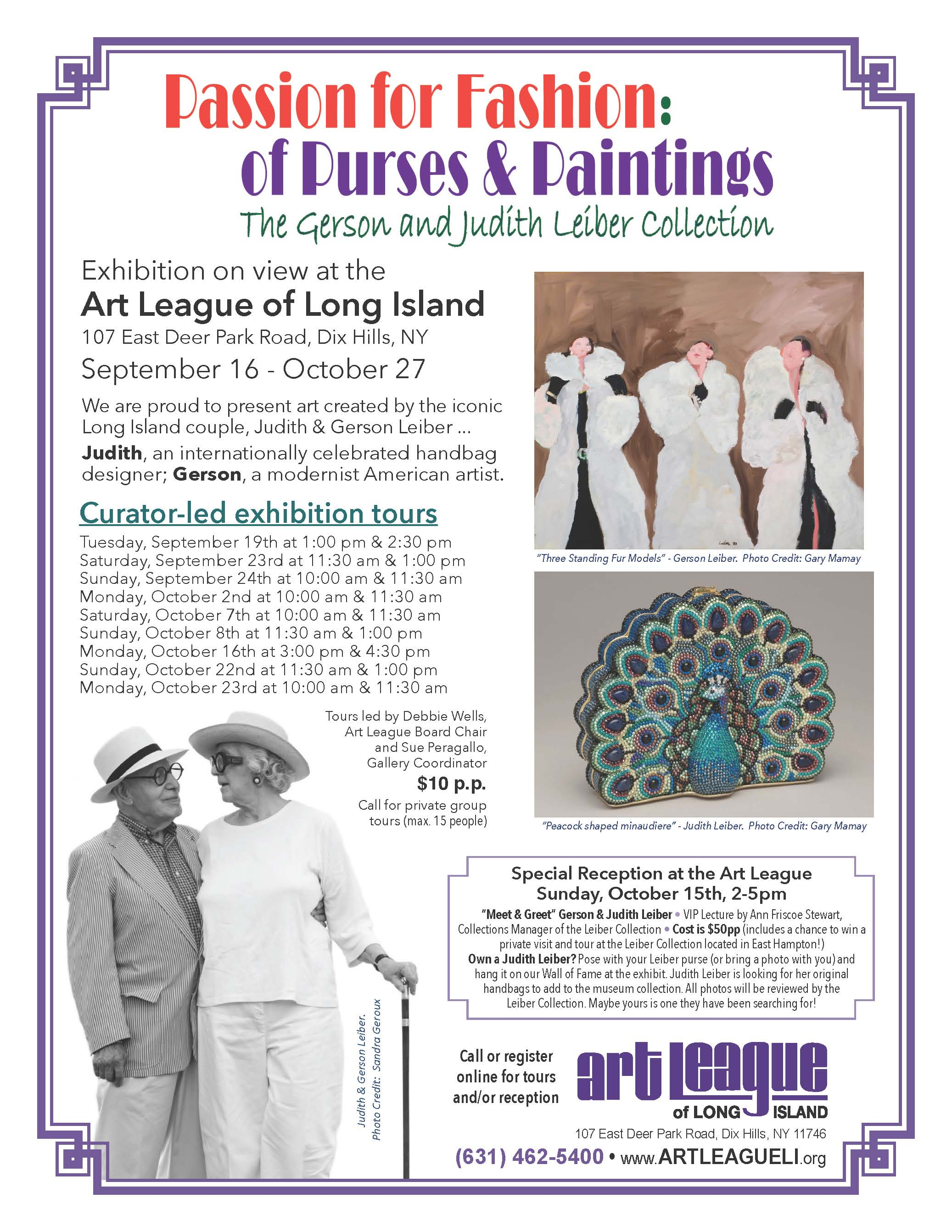 Art League of Long Island: Passion for Fashion Exhibit